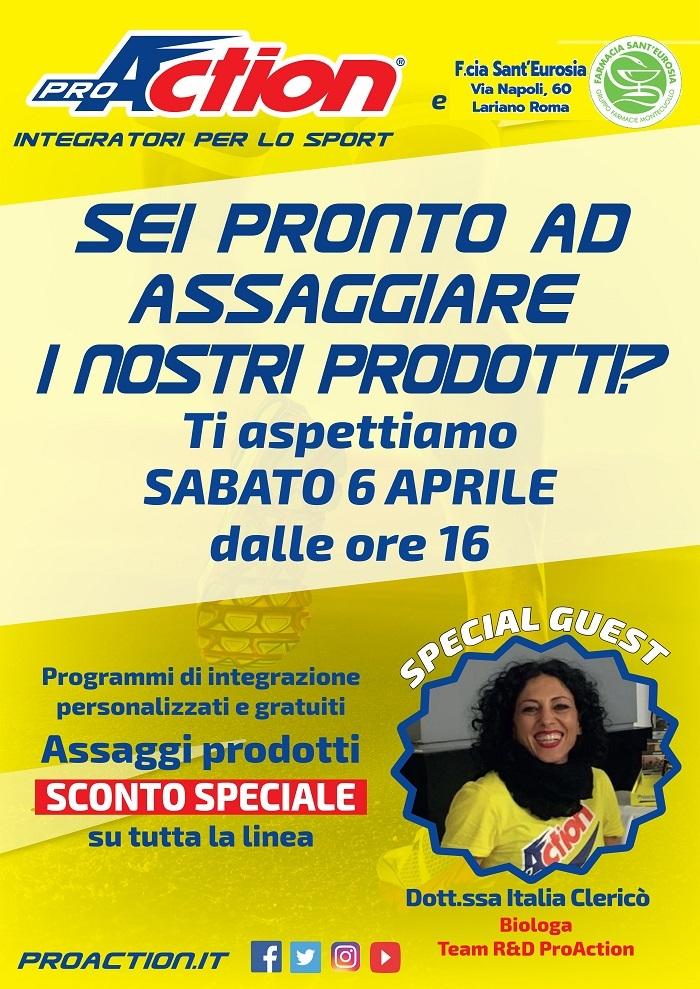EVENTO PRO-ACTION SABATO 6 APRILE 2019