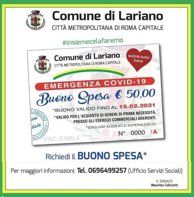 Buoni Spesa distribuiti dal Comune di #Lariano