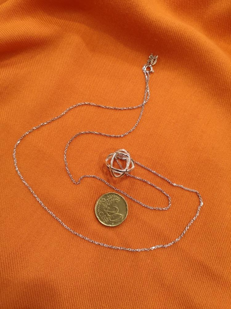 Catenina in argento con ciondolo Genesa Crystal
