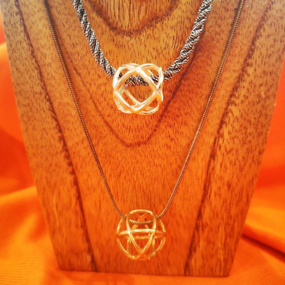 ciondoli Genesa Crystal in argento e argento bagno oro
