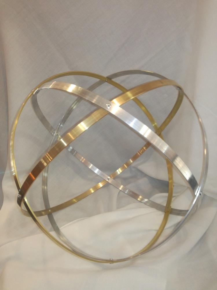Genesa Crystal in ottone e alluminio lucido