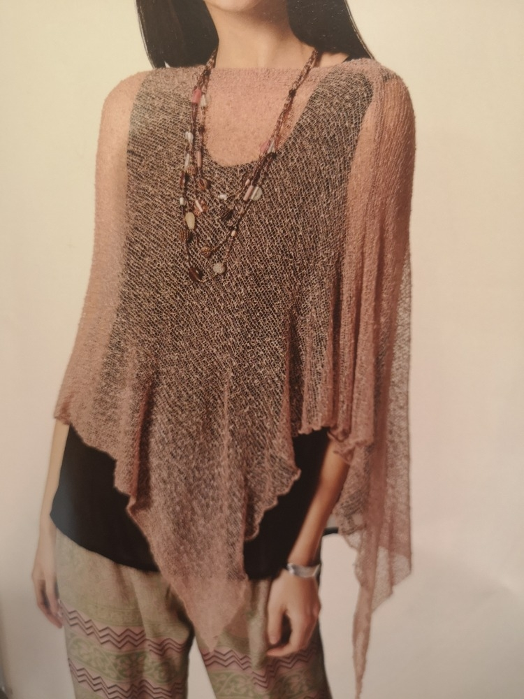 Poncho in Rayon