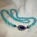 collana in turchese chiusura in argento con lapislazzuli
