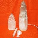 lampade e oggetti in  selenite