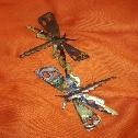 libellule in ottone e rame