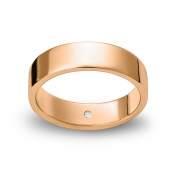 Wedding ring reguliere in pink gold Rosatenue®