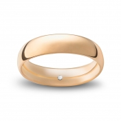 Wedding ring navette in pink gold Rosatenue®