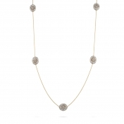 Necklace rose gold, white gold, diamonds - MGI-R4N-CO5052F902
