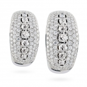 Earrings with diamonds pave in white gold - MD-B-OR4970F
