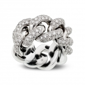 Ring in white gold with diamonds - MGO-B-AN1980T