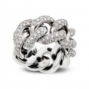 Anello in Oro Bianco e Diamanti - MGO-B-AN-198OT