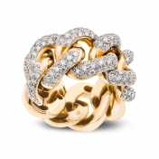 Ring in Rose gold with diamonds - MGO-R4N-AN-1980T