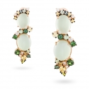 Earrings, diamonds, prehnite, green and yellow sapphires - MN7-R4N-OR112PRH