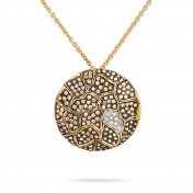 Necklace with Pendant Rose Gold Brown Diamonds - MBS-R4N-CO4819F