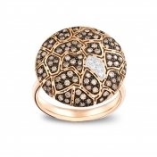 Plateau Ring Rose Gold Brown Diamonds - MBS-R4N-AN5178F