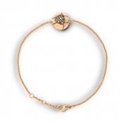 Bracciale Sfera Oro Rosa Diamanti Brown - MBS-R4N-BR4363P