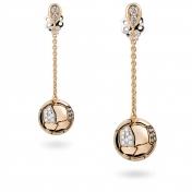 Earrings Brown Diamons Pavè Rose Gold - MBS-R4N-OR4363P901