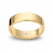 Wedding ring reguliere in white gold Giallopuro®