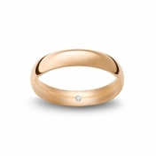 Wedding ring navette in rose gold Rosatenue®