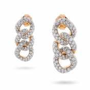 Earrings in rose gold with diamonds - MGO-R4N-OR4999P4N