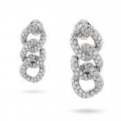 Earrings in white gold with diamonds - MGO-B-OR4999PB