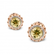 Marli Lollipop - Mini Earrings Lemon Quartz Rose Gold MLPMI-R4N-OR114QZL