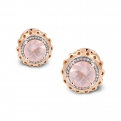Marli Lollipop - Mini Earrings pink Quartz Rose Gold MLPMI-R4N-OR115QZR
