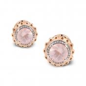 Marli Lollipop - Orecchini Mini Quarzo Rosa e Oro Rosa MLPMI-R4N-OR115QZR