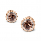 Marli Lollipop - Mini Earrings Fumè Quartz Rose Gold MLPMI-R4N-OR112QZF