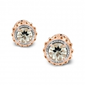 Marli Lollipop - Mini Earrings Prasiolite Rose Gold MLPMI-R4N-OR113PRS