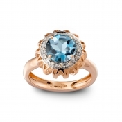 RING BLUE TOPAZ, DIAMONDS AND ROSE GOLD MLP-R4N-AN111TPA