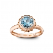 RING BLUE TOPAZ AND ROSE GOLD MLPMI-R4N-AN111TPA