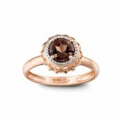 RING SMOKY QUARTZ AND ROSE GOLD MLPMI-R4N-AN112QZF