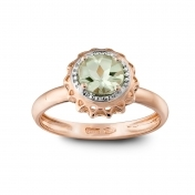 ROSE GOLD RING AND PRASIOLITE MLPMI-R4N-AN113PRS