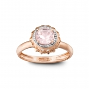 ROSE GOLD RING AND PINK QUARTZ MLPMI-R4N-AN114QZR