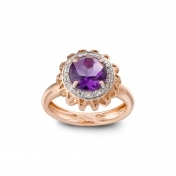 RING AMETHYST, DIAMONDS AND ROSE GOLD MLP-R4N-AN110AMT