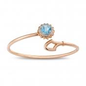 Marli Lollipop - Bracciale topazio azzurro, oro rosa e diamanti MLP-R4N-BR111TPA
