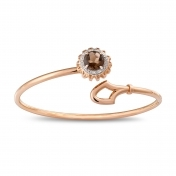 Marli Lollipop - Bracciale quarzo fumé, oro rosa e diamanti MLP-R4N-BR112QZF