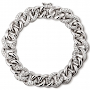 Bracelet in white gold with diamonds - MGO-B-BR4999P