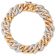 Bracelet in rose gold with diamonds - MGO-R4N-BR4999P
