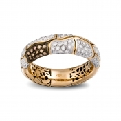 Narrow Band Ring Rose Gold Diamonds - MWS-R4N-AN4892F