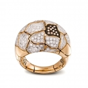 Small Rounded Ring Rose Gold Diamonds - MWS-R4N-AN4891F