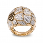 Medium Rounded Ring Rose Gold Diamonds - MWS-R4N-AN4890F