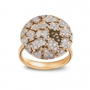 Small Plateau Ring Rose Gold and Diamonds - MWS-R4N-AN5178F