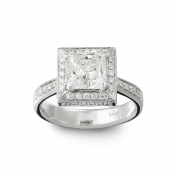 Solitaire Ring White gold, diamonds, MMM-B-AN239DIAG/VS2