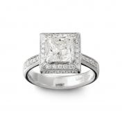 Solitaire Ring White gold, diamonds, MMM-B-AN239DIAG/VS2