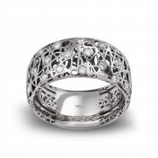 Anello fascia alta oro bianco e diamanti - MMN-G-AN4975F