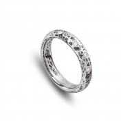 Narrow band ring white gold and diamonds  MMN-B-AN4976F