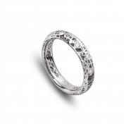 Anello Fascia bassa oro bianco e diamanti - MMN-B-AN4976F