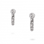 Small hoop earrings white gold and diamonds MMN-B-OR4972F150